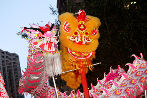 Chinese Dragon and Lion
