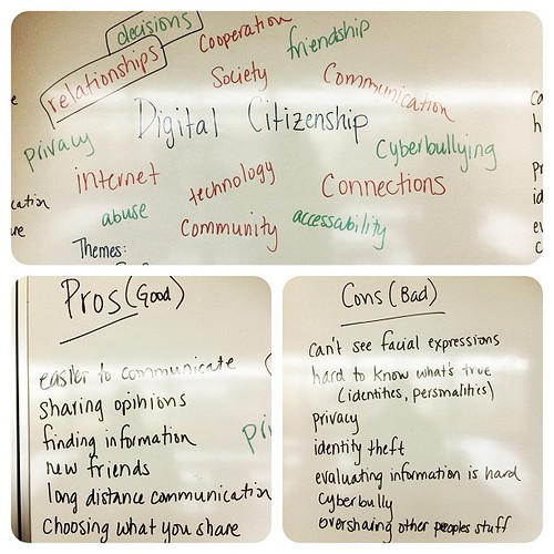 Great lesson w/gr 6 today in prep for Digital Citizenship Week!
