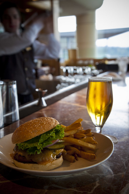 Canucks Burger and Beer Special at the Cascades Lounge
