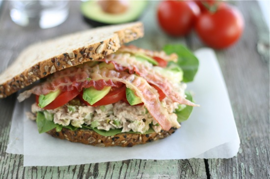 Tuna California Club Sandwich 1