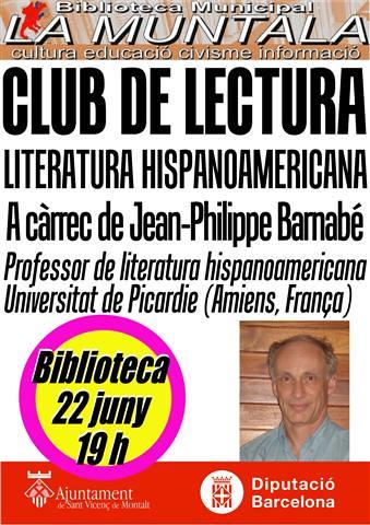 Club de lectura hispanoamericana @ 22 JN 19 h. by bibliotecalamuntala
