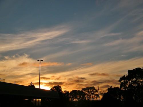 sunset clouds portland australia victoria