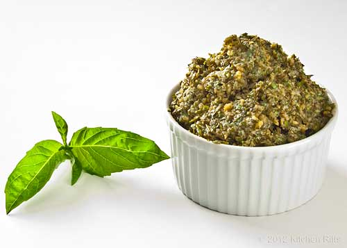Fresh Pesto in White Ramkin