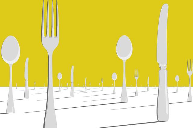 Surreal Cutlery Landscape