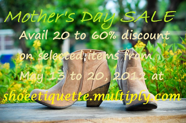 Mother's Day Sale at shoe etiquette