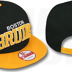 Boston Bruins CHENILLE SNAPBACK Hats New Era NHL Caps Black Gold