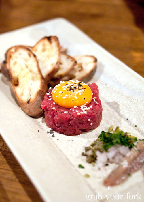 beef tartare press food and wine adelaide