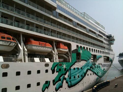 Boarding Norwegian Jade at Stazione Marittima