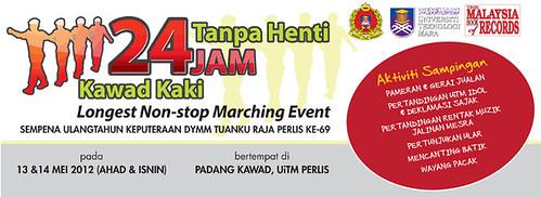 Kawad Kaki 24 Jam Tanpa Henti - Malaysia Book of Records