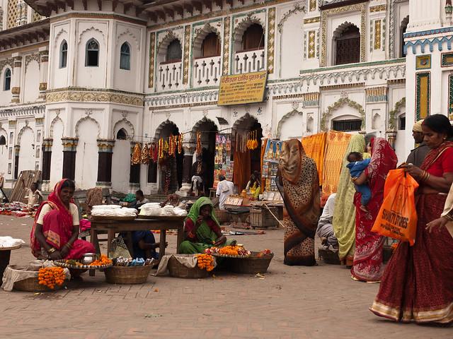 mercado en el Janaki Temple