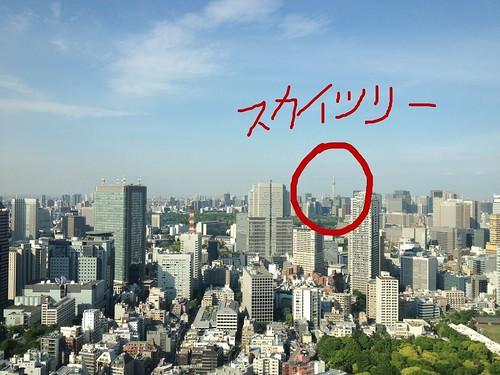 東京ミッドタウンから見るスカイツリー