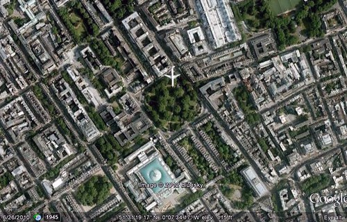 London's Russell Square and surroundings (via Google Earth)