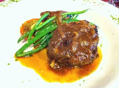 Grilled Beef Tenderloin with Green Beans and Scalloped Potatoes