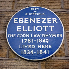 Photo of Ebenezer Elliott blue plaque