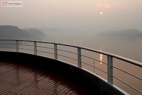 china travel cruise nature sunrise river rivière yangtze chongqing chine croisière