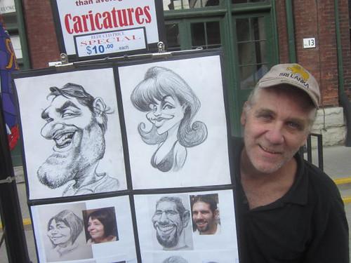 Caricatures by Dave Flett, Toronto Art Market