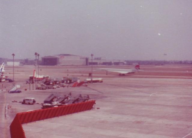 Concorde takes off, circa 1978