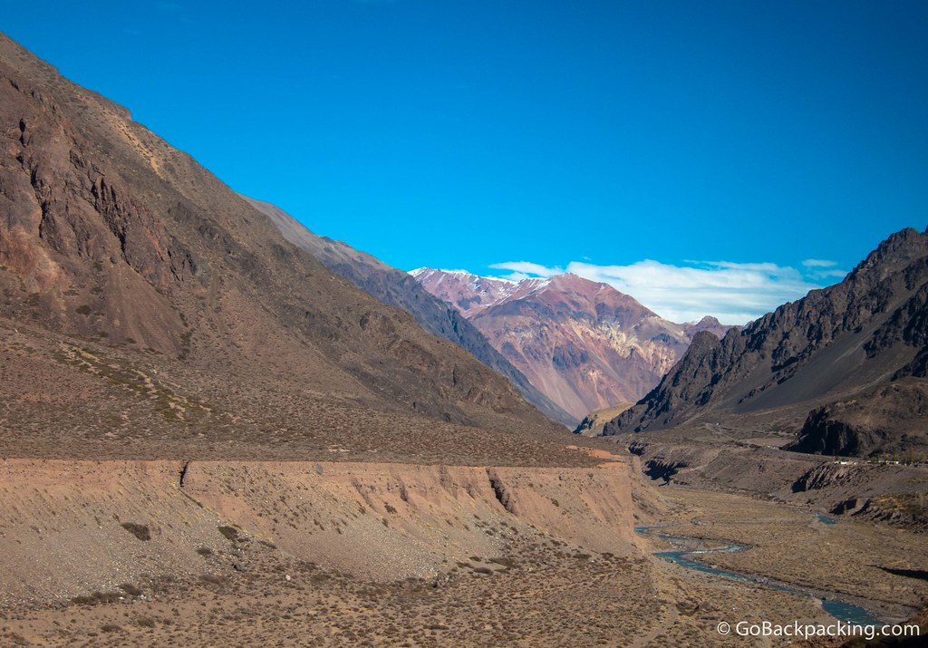 Breathtaking scenery on the ride from Mendoza to Argentina-Chile border