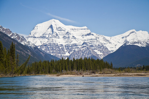 Mount Robson from the Fraser River