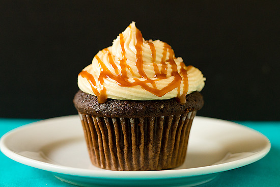 Chocolate Cupcakes with Salted Caramel Buttercream Frosting | Flickr ...