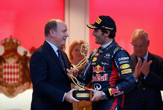 F1 Mônaco 2012 - Mark Webber Pódio