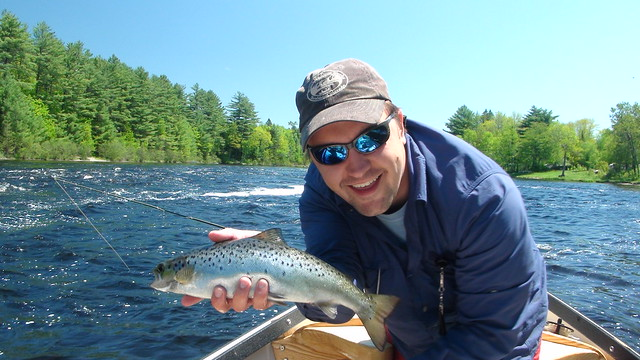 Andrew gets on the board with a Fat Landlocked Salmon