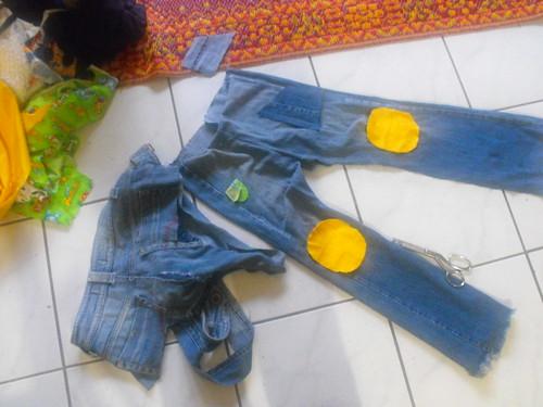 Pantalón reutilizado