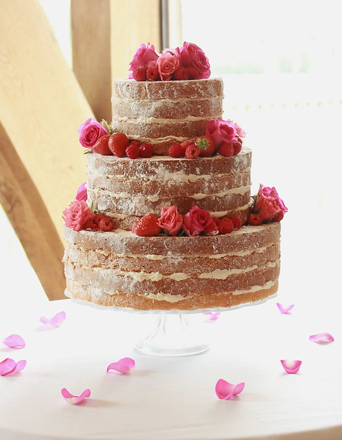 Vintage Victoria Sponge 3 Tiered Wedding Cake
