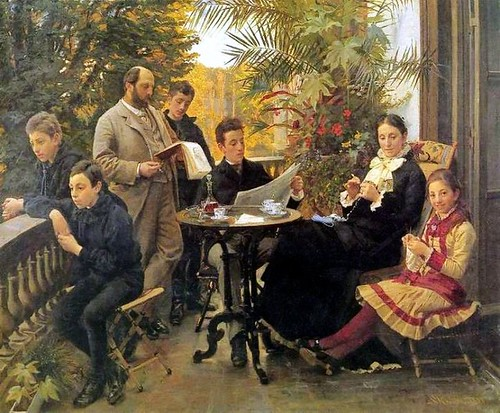 Kroyer, Peder Severin (1851-1909) - 1881 The Hirshsprung Family