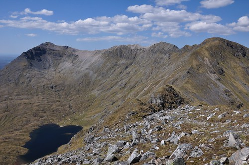 Conival and Ben More Assynt from Carn nan Conbhairean