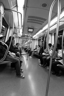 Rome metro ride