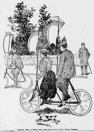 From Wheels To Bikes Fanciful Bicycle Propulsion Sails 1896