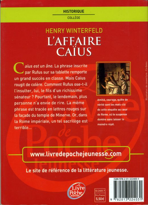 L'affaire Caius, by Henry WINTERFELD