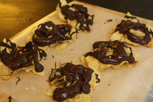 Chocolate Covered Potato Chip Clusters
