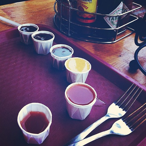 Sauce tasting #lunch