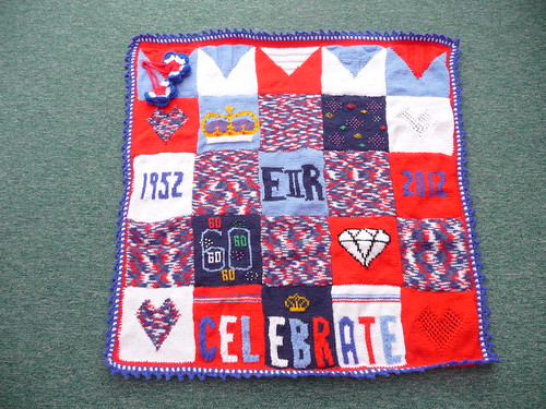 This is a special 'Diamond Jubilee' Blanket made by joyce28. Thank you so much Joyce! Wonderful!