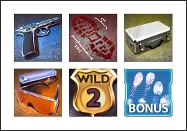 free Crime Scene slot game symbols
