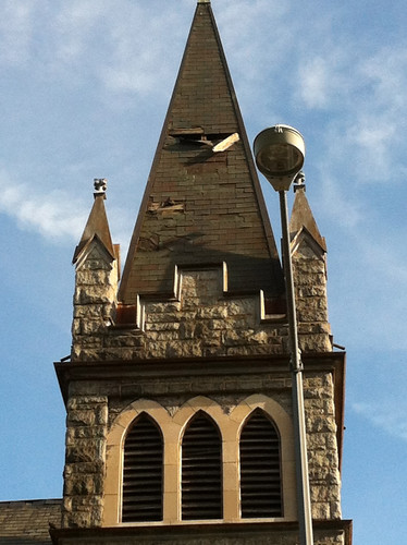 steeple damage