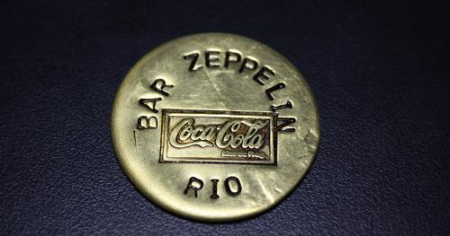 1980s Metal Chip form Zeppelin Bar in Sao Conrado Rio de Janeiro by roitberg