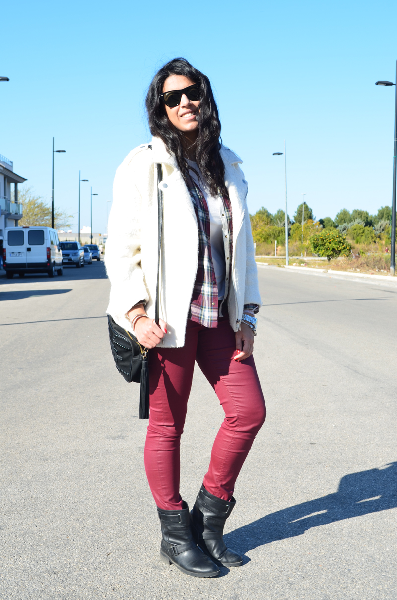 florenciablog total look burgundy inspiration burgundy look granate fieltro jacket cream jacket gandia españa bloggers (11)