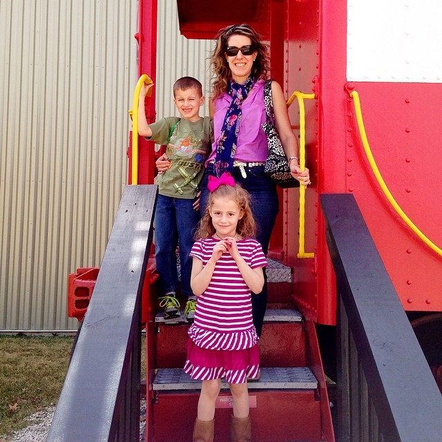 Museum of Transportation with my loves!  ❤️