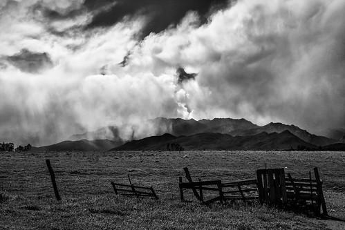 blackandwhite mountain rain montagne landscape noiretblanc cloudy corse corsica pluie prairie paysage nuageux paturage corsefrance fiumorbo