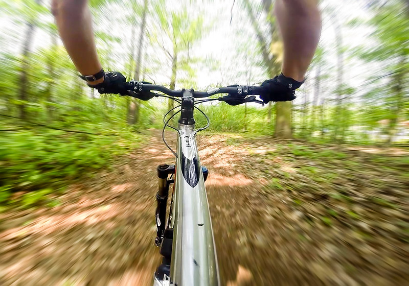Challenge MTB - New trail in forest