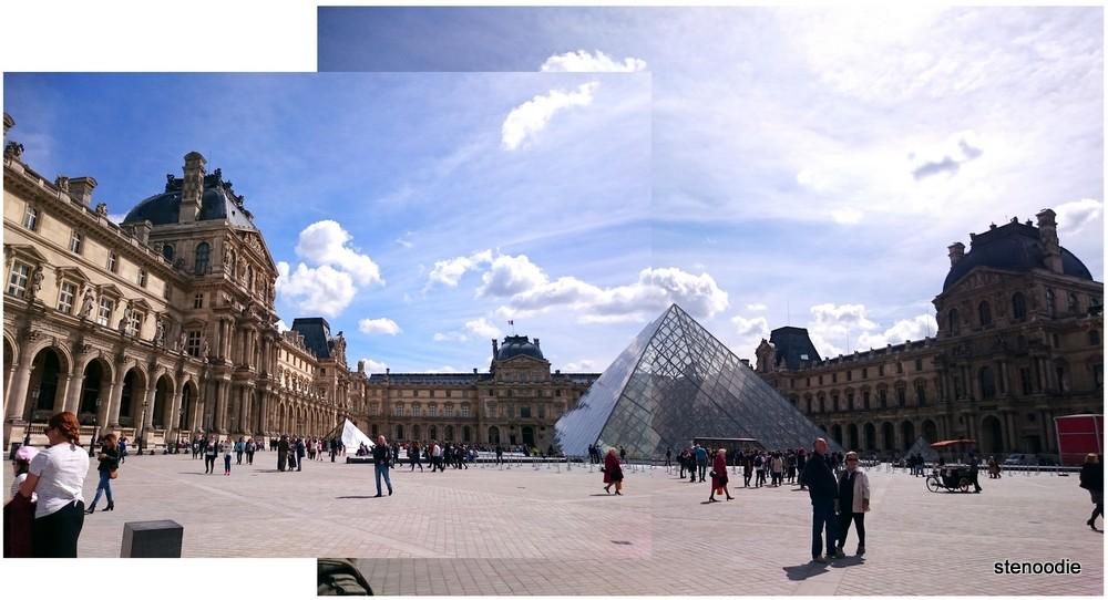 Louvre landscape