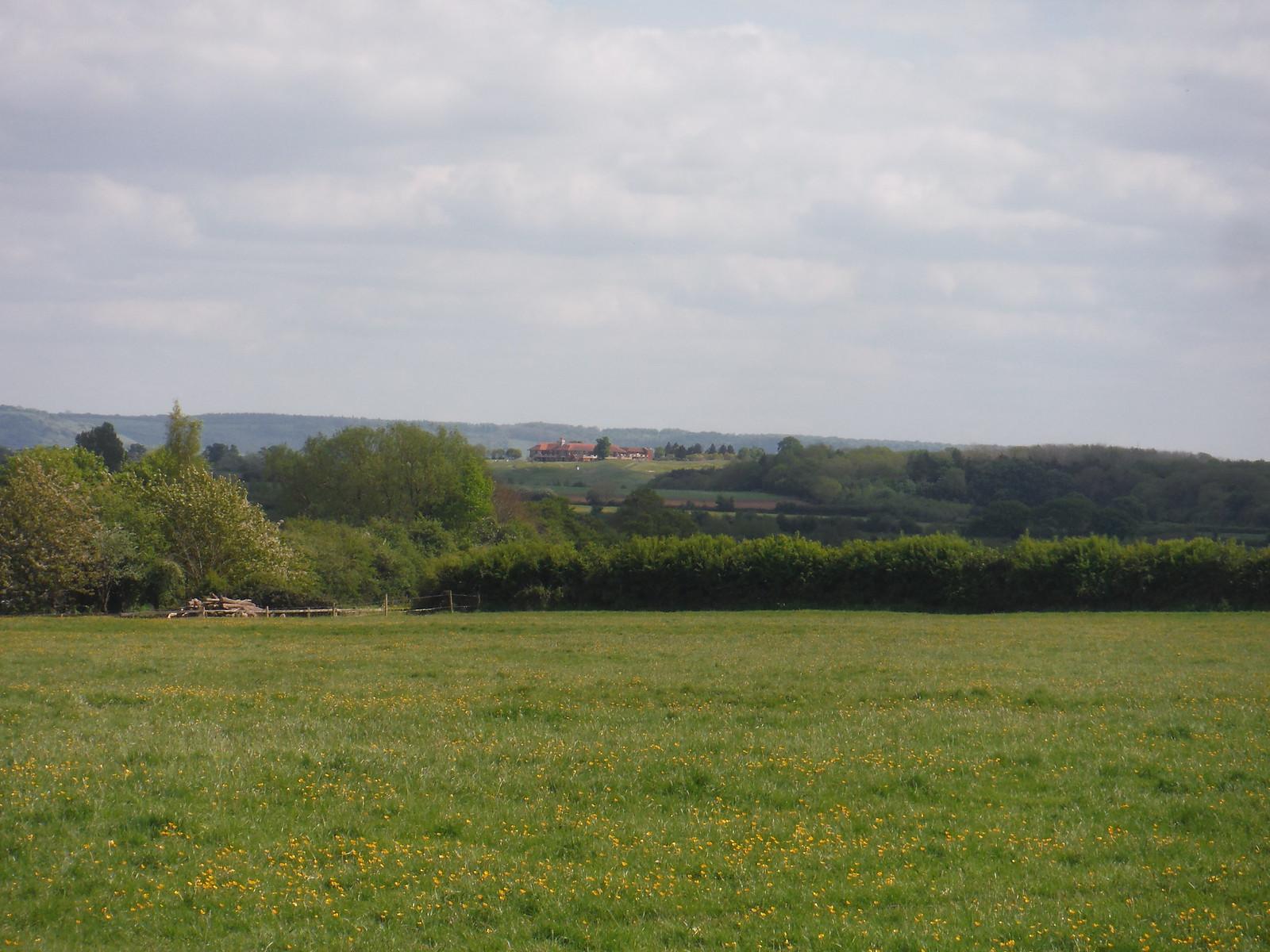 Club House of Oxfordshire Golf Club, from near Shabbington SWC Walk 190 - Thame Circular