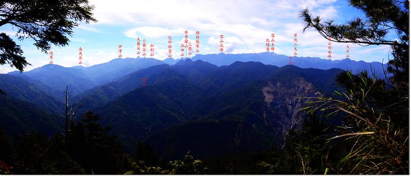 榛山北峰東南眺大霸群峰及聖稜線 1-1