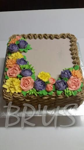 Buttercream Nosegay Basket by Franc Linda of Br'US Buttercream Collection