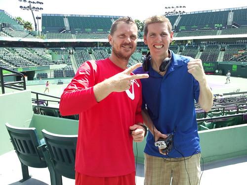 Brad with Alex Bogomolov Jr.