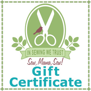 Sew Mama Sew! gift certificate