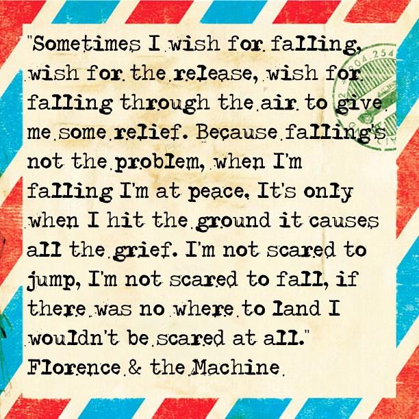 florence and the machine falling lyrics